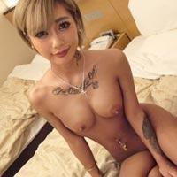 そっち系の女に見える刺青ヤバイ黒ギャルをハメ撮り!!